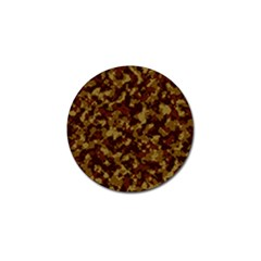 Camouflage Tarn Forest Texture Golf Ball Marker by Onesevenart