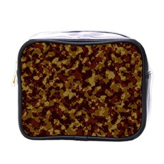 Camouflage Tarn Forest Texture Mini Toiletries Bags by Onesevenart