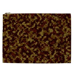 Camouflage Tarn Forest Texture Cosmetic Bag (xxl)  by Onesevenart