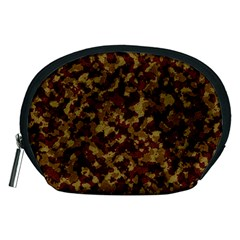 Camouflage Tarn Forest Texture Accessory Pouches (medium)  by Onesevenart