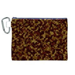 Camouflage Tarn Forest Texture Canvas Cosmetic Bag (xl) by Onesevenart