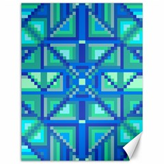Grid Geometric Pattern Colorful Canvas 12  X 16   by Onesevenart