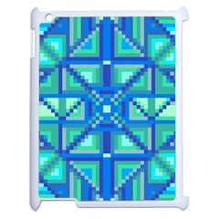 Grid Geometric Pattern Colorful Apple Ipad 2 Case (white) by Onesevenart