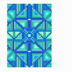 Grid Geometric Pattern Colorful Large Garden Flag (two Sides) by Onesevenart