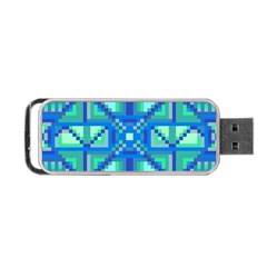 Grid Geometric Pattern Colorful Portable Usb Flash (two Sides) by Onesevenart