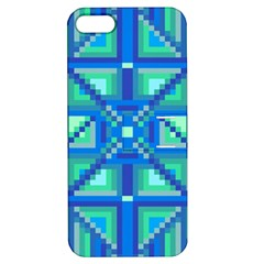 Grid Geometric Pattern Colorful Apple Iphone 5 Hardshell Case With Stand by Onesevenart
