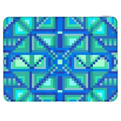 Grid Geometric Pattern Colorful Samsung Galaxy Tab 7  P1000 Flip Case by Onesevenart