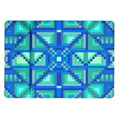 Grid Geometric Pattern Colorful Samsung Galaxy Tab 10 1  P7500 Flip Case by Onesevenart