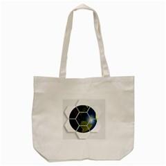 Hexagon Diamond Earth Globe Tote Bag (cream) by Onesevenart