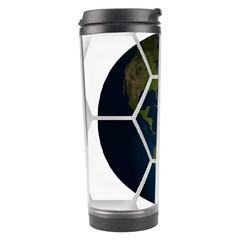 Hexagon Diamond Earth Globe Travel Tumbler by Onesevenart