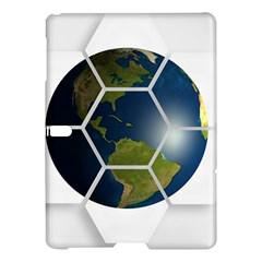 Hexagon Diamond Earth Globe Samsung Galaxy Tab S (10 5 ) Hardshell Case  by Onesevenart