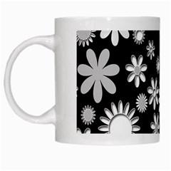 Flower Power Flowers Ornament White Mugs by Onesevenart