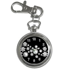 Flower Power Flowers Ornament Key Chain Watches by Onesevenart