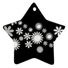 Flower Power Flowers Ornament Star Ornament (two Sides) by Onesevenart