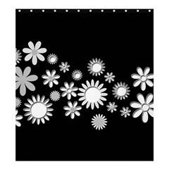 Flower Power Flowers Ornament Shower Curtain 66  X 72  (large)  by Onesevenart