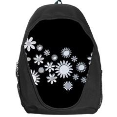 Flower Power Flowers Ornament Backpack Bag by Onesevenart