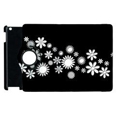 Flower Power Flowers Ornament Apple Ipad 2 Flip 360 Case by Onesevenart