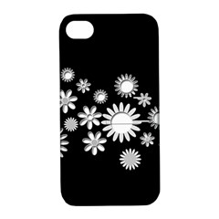 Flower Power Flowers Ornament Apple Iphone 4/4s Hardshell Case With Stand by Onesevenart