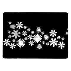 Flower Power Flowers Ornament Samsung Galaxy Tab 10 1  P7500 Flip Case by Onesevenart