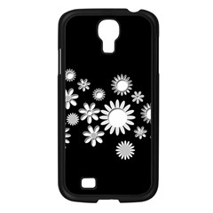 Flower Power Flowers Ornament Samsung Galaxy S4 I9500/ I9505 Case (black) by Onesevenart