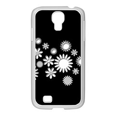 Flower Power Flowers Ornament Samsung Galaxy S4 I9500/ I9505 Case (white) by Onesevenart