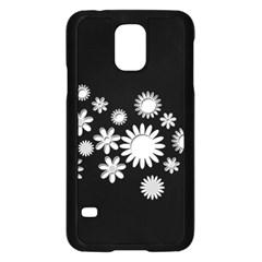 Flower Power Flowers Ornament Samsung Galaxy S5 Case (black) by Onesevenart