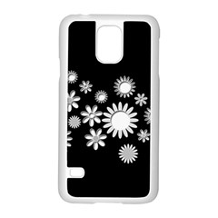 Flower Power Flowers Ornament Samsung Galaxy S5 Case (white) by Onesevenart