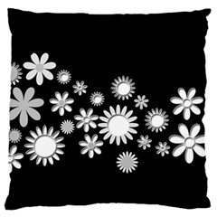 Flower Power Flowers Ornament Standard Flano Cushion Case (two Sides) by Onesevenart