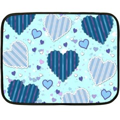 Hearts Pattern Paper Wallpaper Fleece Blanket (mini) by Onesevenart
