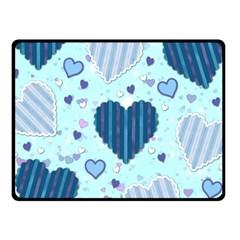 Hearts Pattern Paper Wallpaper Fleece Blanket (small) by Onesevenart