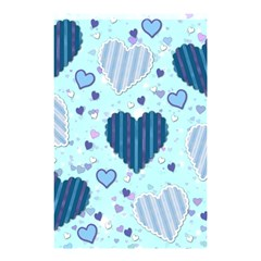 Hearts Pattern Paper Wallpaper Shower Curtain 48  X 72  (small)  by Onesevenart