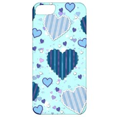 Hearts Pattern Paper Wallpaper Apple Iphone 5 Classic Hardshell Case by Onesevenart