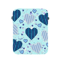 Hearts Pattern Paper Wallpaper Apple Ipad 2/3/4 Protective Soft Cases by Onesevenart