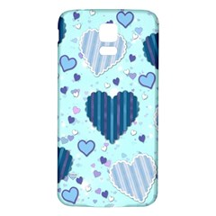 Hearts Pattern Paper Wallpaper Samsung Galaxy S5 Back Case (white) by Onesevenart