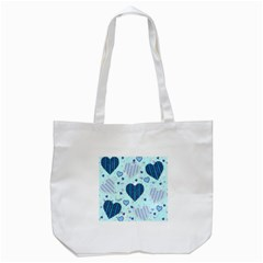 Hearts Pattern Paper Wallpaper Tote Bag (white) by Onesevenart
