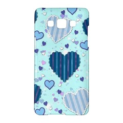 Hearts Pattern Paper Wallpaper Samsung Galaxy A5 Hardshell Case  by Onesevenart