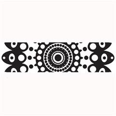 Mandala Geometric Symbol Pattern Large Bar Mats by Onesevenart