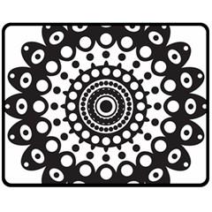 Mandala Geometric Symbol Pattern Fleece Blanket (medium)  by Onesevenart