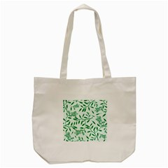 Leaves Foliage Green Wallpaper Tote Bag (cream) by Onesevenart