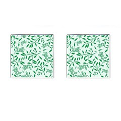 Leaves Foliage Green Wallpaper Cufflinks (square) by Onesevenart