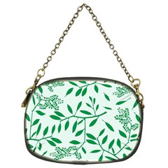 Leaves Foliage Green Wallpaper Chain Purses (two Sides)  by Onesevenart