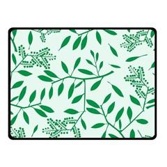 Leaves Foliage Green Wallpaper Fleece Blanket (small) by Onesevenart