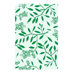 Leaves Foliage Green Wallpaper Shower Curtain 48  X 72  (small)  by Onesevenart