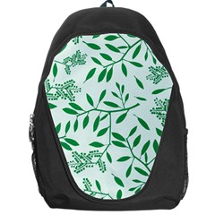Leaves Foliage Green Wallpaper Backpack Bag by Onesevenart