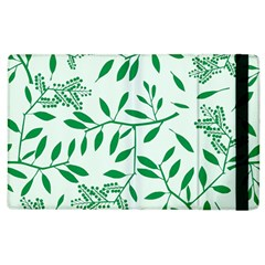 Leaves Foliage Green Wallpaper Apple Ipad 3/4 Flip Case by Onesevenart