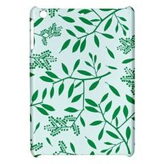 Leaves Foliage Green Wallpaper Apple Ipad Mini Hardshell Case by Onesevenart
