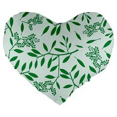 Leaves Foliage Green Wallpaper Large 19  Premium Heart Shape Cushions by Onesevenart