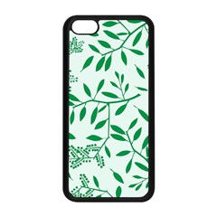 Leaves Foliage Green Wallpaper Apple Iphone 5c Seamless Case (black) by Onesevenart