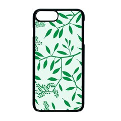 Leaves Foliage Green Wallpaper Apple Iphone 7 Plus Seamless Case (black) by Onesevenart