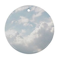 Light Nature Sky Sunny Clouds Ornament (round) by Onesevenart